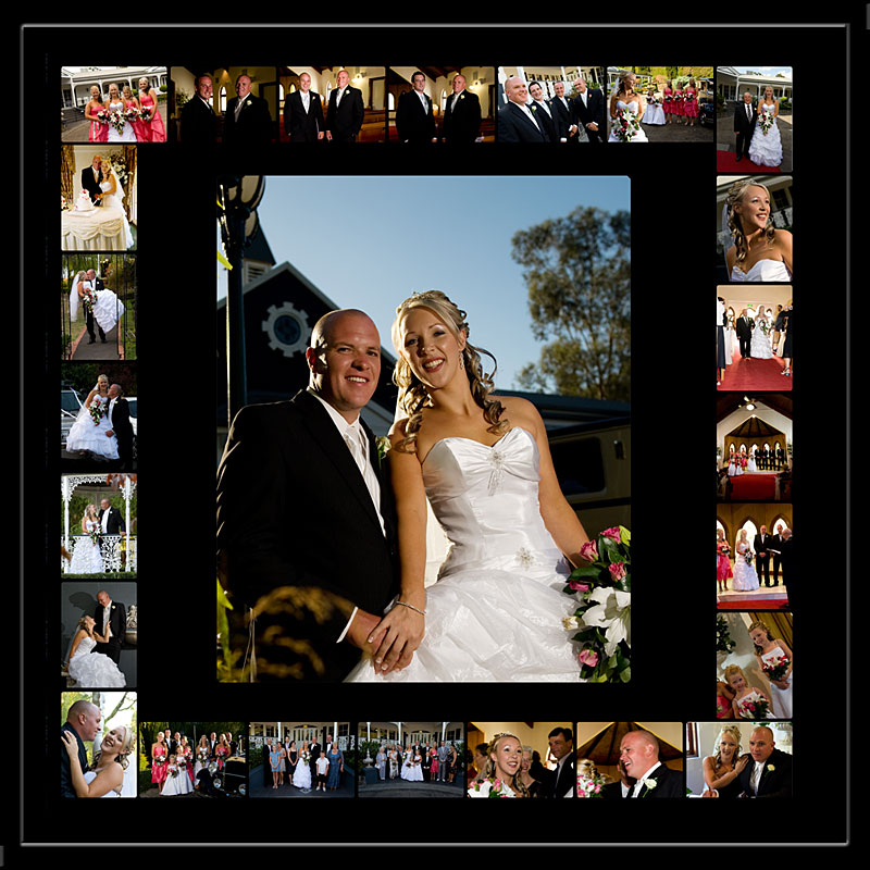 Melbourne Wedding Photography Storyboard showing a wedding from Ballara Receptions Eltham.
