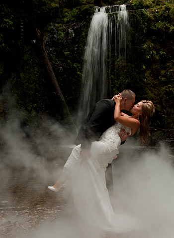 Waterfall wedding, Melbourne.