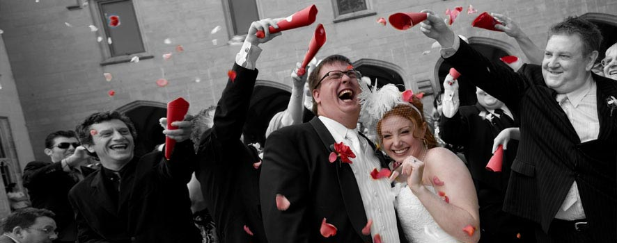 Fun wedding photography, Melbourne University