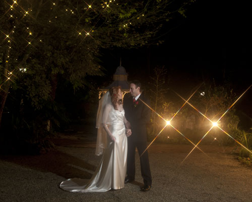 Night Wedding Photography at Melbourne reception venue Lyrebird Falls