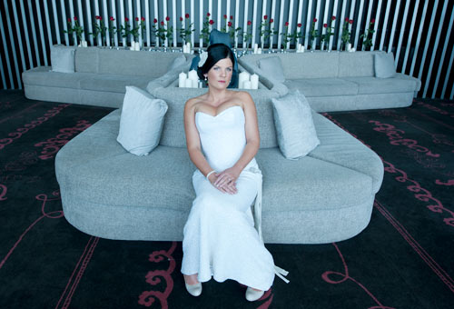 Melbourne Wedding Photographers portrait of a bride at Crown Metropol Hotel