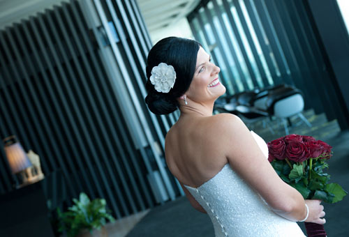 Wedding Photography showing a bride at the Crown Metropol Hotel