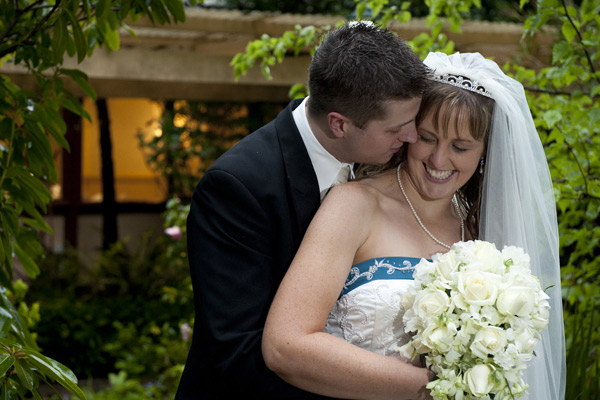 A romantic portrait of newyweds after their poets lane wedding, by wedding photographers melbourne.