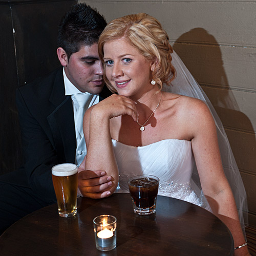 Wedding Photography of a Melbourne couple in a bar