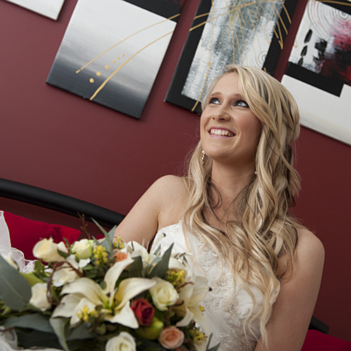 Wedding Photography of a bride before her ceremony