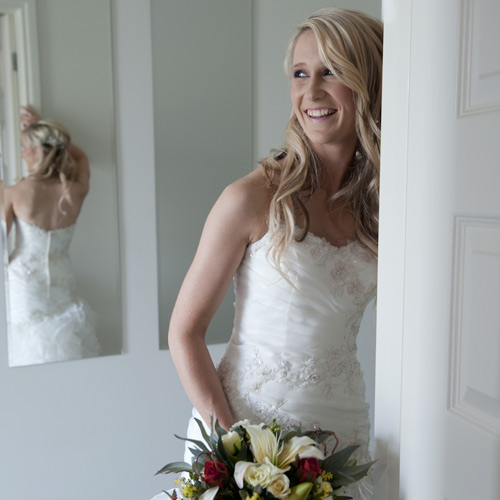 A bridal portrait of a melbourne bride before her wedding ceremony