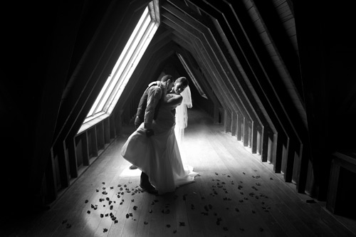 Wedding Photography in the attic at Montsalvat