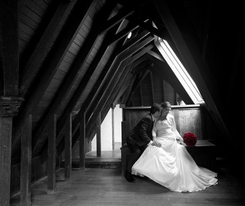 Bridal photography by Melbourne Wedding Photographers, at Montsalvat, Eltham.