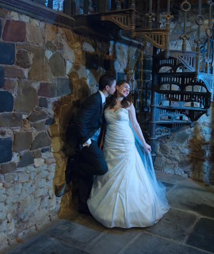 Wedding photography in the garden at montsalvat