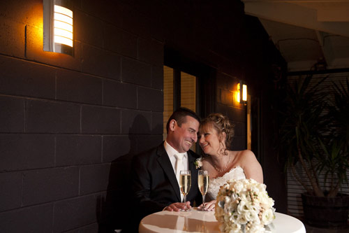 wedding photography of newlyweds on patio, All Smiles Function Venue Warranwood
