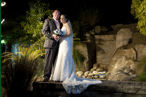 night wedding photography, potters reception