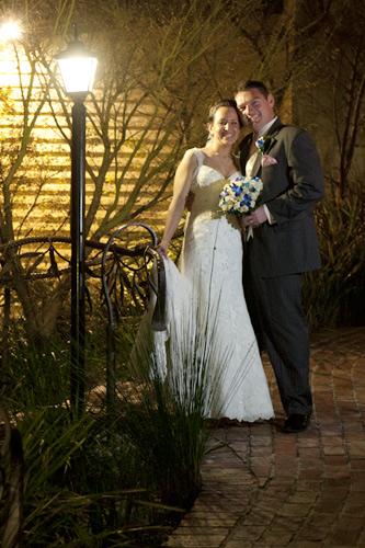 wedding night photo of potters reception couple