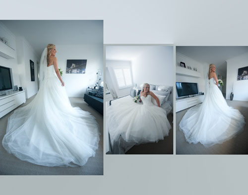 collage of bridal photography