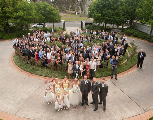 Full wedding group at Treacy Centre Melbourne