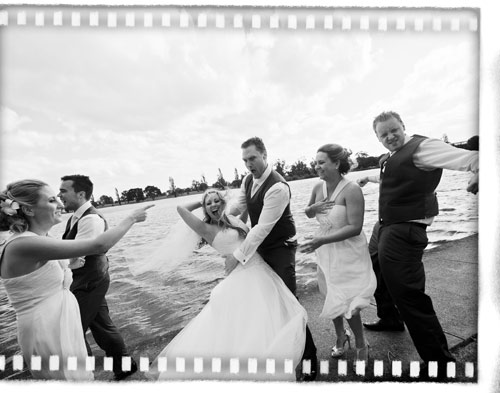 Fun bridal party at Melbourne wedding